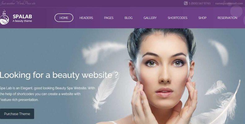 Thème WordPress Spa Lab : Le thème par excellence de la beauté